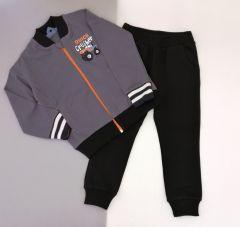 Костюм для мальчика темно-серый (темно-серый с черным), КС-381