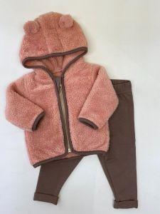 Милий комплект для дитини (рожевий з коричневим), Lotex 037-21