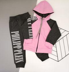 Трикотажний костюм  для дівчинки (рожевий), Lotex 135-17