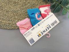 """Набір шкарпеток для дитини """"фламінго"""" (3 шт.),   Defne 10556"""