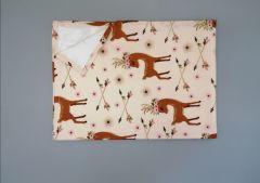 Пеленка непромокаюча (бежеве з оленями), 11032