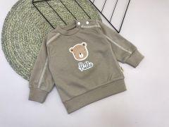 """Трикотажний кофта """"Медведик"""" для дитини (темно-бежева), Lotex 029-01"""