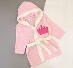 Махровий халат для дитини (рожевий), 354 Minilori Baby