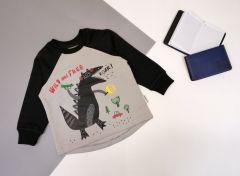 Трикотажний світшот для дитини (сірий з чорним), Robinzone КФ-722