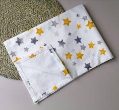Пеленка непромокаюча, (зірки: жовті і сірі)  10885
