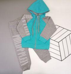 Трикотажний костюм  для дівчинки (голубий), Lotex 135-16