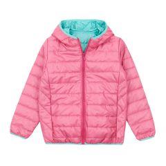 Демісезонна куртка для дівчинки (рожева з ментоловим), 2ПЛ103