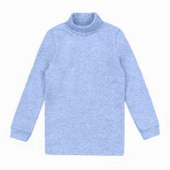 Трикотажний гольф для дитини (блакитний меланж), ЗЛН133