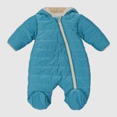 Теплий комбінезон з капюшоном для дитини (темно-голубий), 8ПЛ066