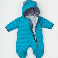 Теплий комбінезон з капюшоном для дитини (голубий), 8ПЛ066