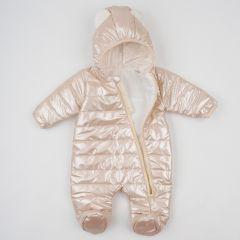 Теплий комбінезон з капюшоном для дитини (перламутрова), 8ПЛ066