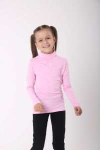Трикотажний гольф для дівчинки (світло-рожевий), 314106/324106