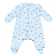 Трикотажний чоловічок для малюка (блакитний) від Minikin, 01103/00303