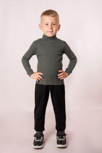 Трикотажний гольф для дитини (темно-сірий), a-04-950-18БМ-v