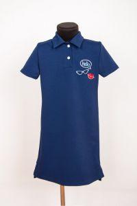 Плаття-поло для дівчинки (синє), a-05-1404-77B-v