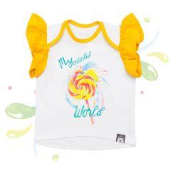 Красивая футболка для девочки, 08-00102