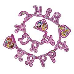 """Банер """"Happy Birthday"""" Disney Princess / Принцеси Дісней, 85014"""
