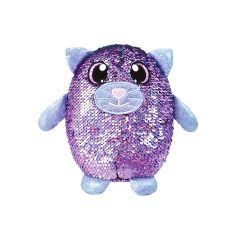 М'яка іграшка з паєтками  - Ніжний котик (20см.), SHIMMEEZ SH01053С