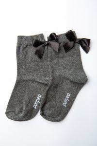"""Шкарпетки для дівчинки """"Star"""" (темно-сірі), Pompea."""
