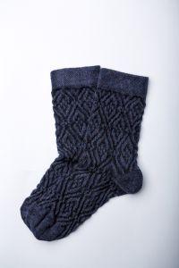 """Носочки для девочки """"Zafirro"""" (синий меланж), Pompea."""