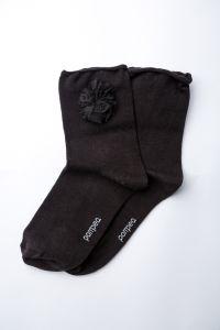 """Носочки для девочки """"Fuxia"""" (черные), Pompea."""