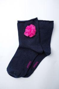 """Носочки для девочки """"Fuxia"""" (темно-синие), Pompea."""
