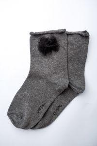 "Носочки для девочки ""Fuxia"" (серые), Pompea."
