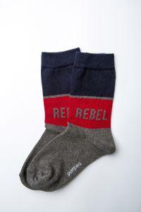 "Шкарпетки для хлопчика ""Rugby"" (бордова смуга), Pompea."