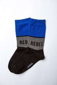 """Шкарпетки для хлопчика """"Rugby"""" (сіра смуга), Pompea."""