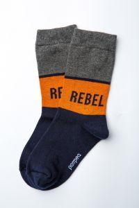 """Шкарпетки для хлопчика """"Rugby"""" (помаранчева смуга), Pompea."""