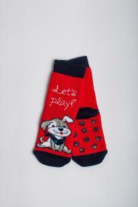 """Теплі шкарпетки для хлопчика """"Baseball"""" (червоний), Pompea."""