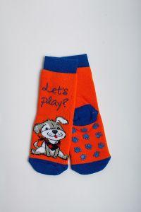 """Теплі шкарпетки для хлопчика """"Baseball"""" (помаранчевий), Pompea."""