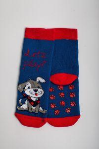 """Теплі шкарпетки для хлопчика """"Baseball"""" (темно-синій), Pompea."""