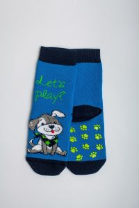 """Теплі шкарпетки для хлопчика """"Baseball"""" (блакитний), Pompea."""