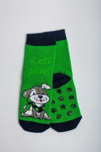 """Теплі шкарпетки для хлопчика """"Baseball"""" (зелений), Pompea."""