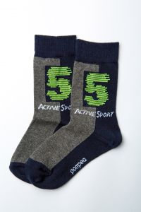 """Шкарпетки для хлопчика """"Gong"""" (сіро-сині), Pompea."""