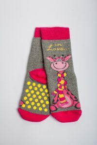 """Теплі шкарпетки для дівчинки """"Zumba"""" (сірий), Pompea."""