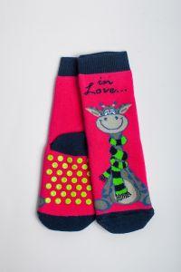 """Теплі шкарпетки для дівчинки """"Zumba"""" (малиновий), Pompea."""