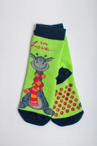 """Теплі шкарпетки для дівчинки """"Zumba"""" (салатовий), Pompea."""