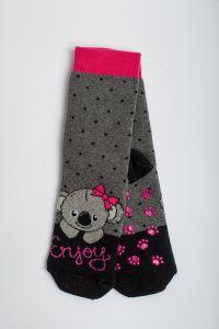 """Теплі шкарпетки для дівчинки """"Samba"""" (темно-сірий), Pompea."""