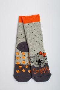 """Теплі шкарпетки для дівчинки """"Samba"""" (світло-сірий), Pompea."""