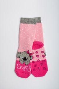 """Теплі шкарпетки для дівчинки """"Samba"""" (рожевий), Pompea."""