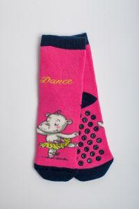 """Теплі шкарпетки для дівчинки """"Hippo"""" (малиновий), Pompea."""