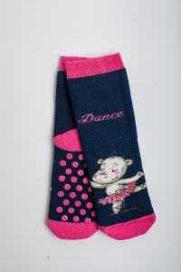 """Теплі шкарпетки для дівчинки """"Hippo"""" (синій), Pompea."""