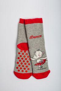 """Теплі шкарпетки для дівчинки """"Hippo"""" (сірий), Pompea."""