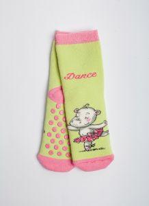 """Теплі шкарпетки для дівчинки """"Hippo"""" (салатовий), Pompea."""