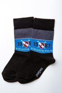 """Носочки для мальчика """"Mandolino"""" (синяя полоска), Pompea."""