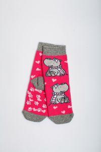 """Теплі шкарпетки для дівчинки """"Sweet"""" (малиновий), Pompea."""