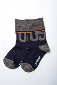 """Шкарпетки для хлопчика """"Tromba"""" (сіро-сині), Pompea."""