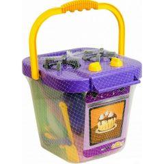 """Набір посуду з плитою """"Ромашка""""(25 елементів) - фіолетовий, Tigres 39153"""
